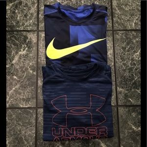 Boys Nike and Under Armour Tee Lot